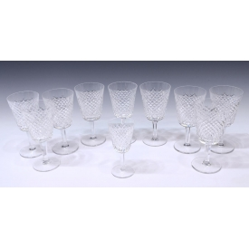 (10) WATERFORD CUT CRYSTAL ALANA STEMWARE