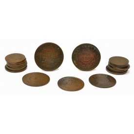 (27) U.S. CIVIL WAR ERA STORE TOKEN & OTHERS