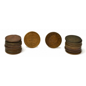 (29) ASSORTED U.S. CIVIL WAR PATRIOTIC TOKENS