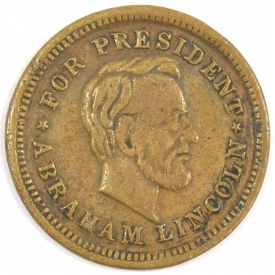 1864 ABRAHAM LINCOLN FOR PRESIDENT TOKEN