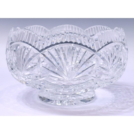 WATERFORD CUT CRYSTAL FOOTED SERVING BOWL