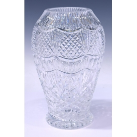 "WATERFORD FINELY CUT CRYSTAL VASE, 11.75""H"