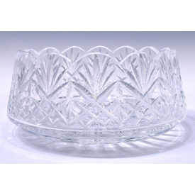 WATERFORD CUT CRYSTAL SERVING BOWL