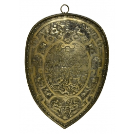 HENRY II STYLE SHIELD WITH BATTLE SCENE