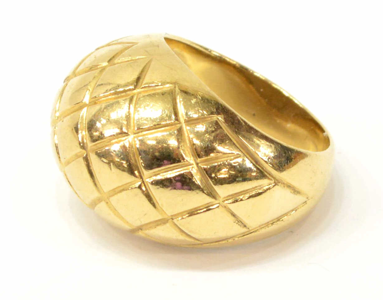estate 14kt yellow gold gemstone dome ring spectacular