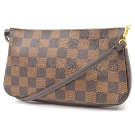 LOUIS VUITTON ACCESSORY POUCH IN DAMIER EBENE