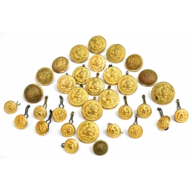 (33) COLLECTIBLE MILITARY UNIFORM BUTTONS