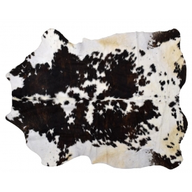 "LARGE BRAZILIAN TANNED COWHIDE, APPROX 80"", 64"""