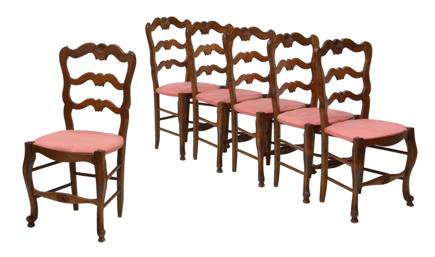 6 Country French Ladder Back Dining Chairs Jo Anne
