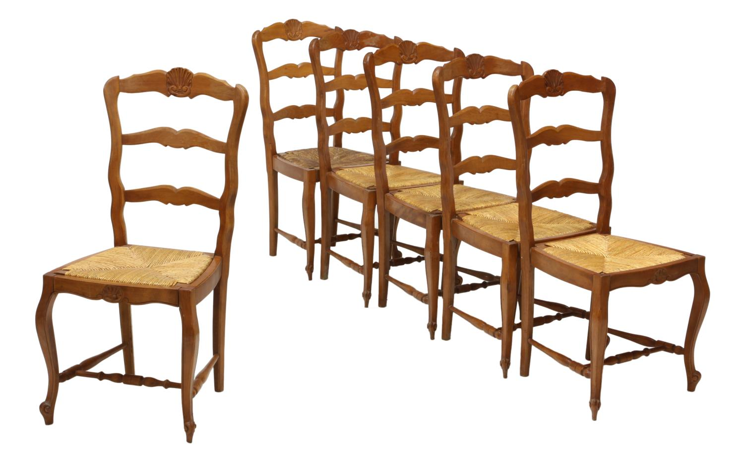6 country french rush seat dining side chairs jo anne
