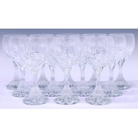 (12) BACCARAT CRYSTAL MASSENA WATER GOBLETS