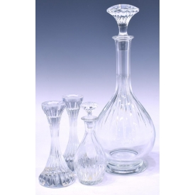 (4) BACCARAT MASSENA CRYSTAL TABLE & SERVICEWARE