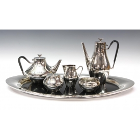 (6) REED & BARTON JOHN PRIP TEA COFFEE SERVICE