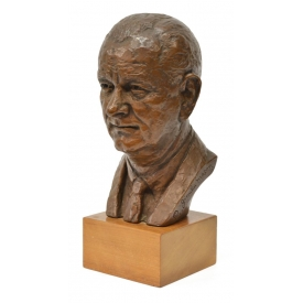 JIMILU MASON (20TH C.) LYNDON B. JOHNSON BUST