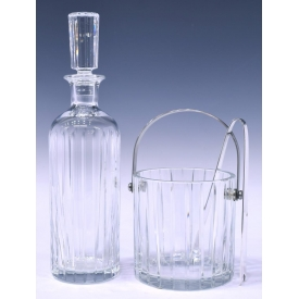 (2)BACCARAT CRYSTAL HARMONIE DECANTER & ICE BUCKET