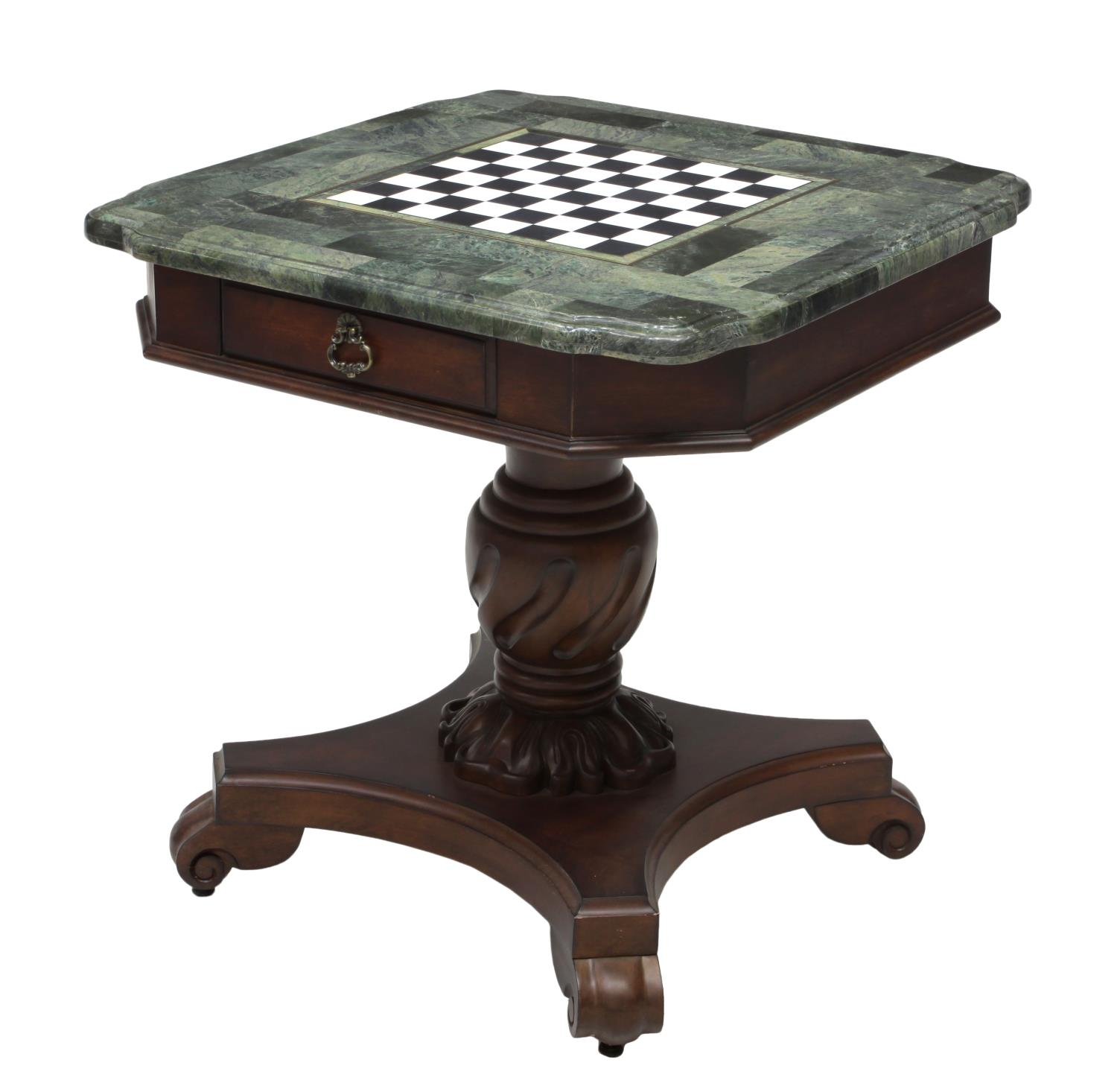 Hooker Furniture Green Marble Top Games Table Jo Anne Christian Collection Part Two Dreyfus