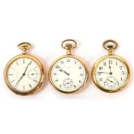 (3) ELGIN POCKET WATCHES, TWO 15 JEWELS