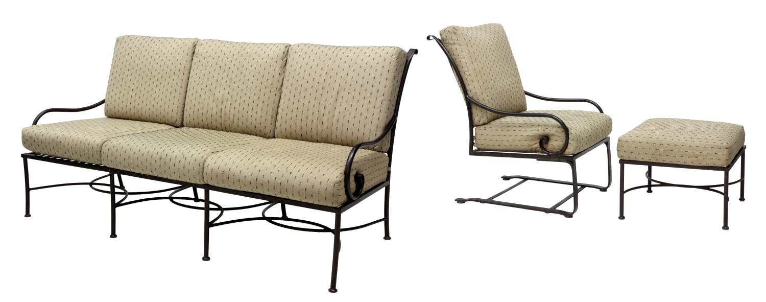 3 outdoor furniture set sofa chair ottoman march for Outdoor furniture austin