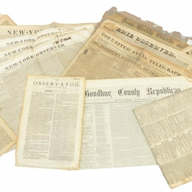 (16) ANTIQUE NEWSPAPERS, 1681-1891