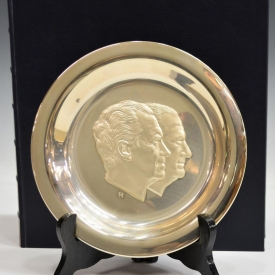 STERLING SILVER 1973 PRESIDENTIAL INAUGURAL PLATE