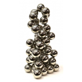 CONTEMPORARY SILVERED METAL SPHERE SCULPTURE