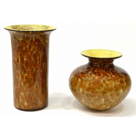 (2) MICHAEL COHN & MOLLY STONE ART GLASS VASES