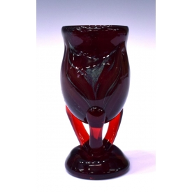 BRIAN LONSWAY RED FEATHER STUDIO ART GLASS VAS