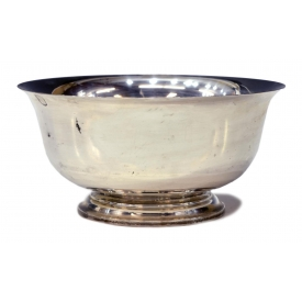 LARGE REVERE REPRODUCTION STERLING SILVER BOWL