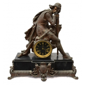 FRENCH FIGURAL MANTEL CLOCK, J. MARTI