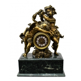 FRENCH JAPY FRERES PUTTI CHAPTER RING MANTEL CLOCK