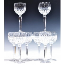 "(8) WATERFORD CRYSTAL ""COLLEEN"" WINE STEMWARE"