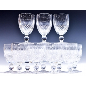 "(12) WATERFORD CRYSTAL ""COLLEEN"" CLARET GLASSES"