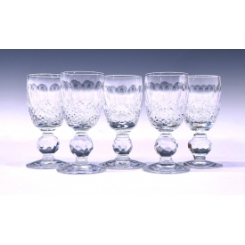 "(5) WATERFORD CRYSTAL ""COLLEEN"" CORDIAL GLASSES"