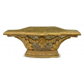 ANTIQUE FRENCH GILTWOOD ARCHITECTURAL PEDESTAL