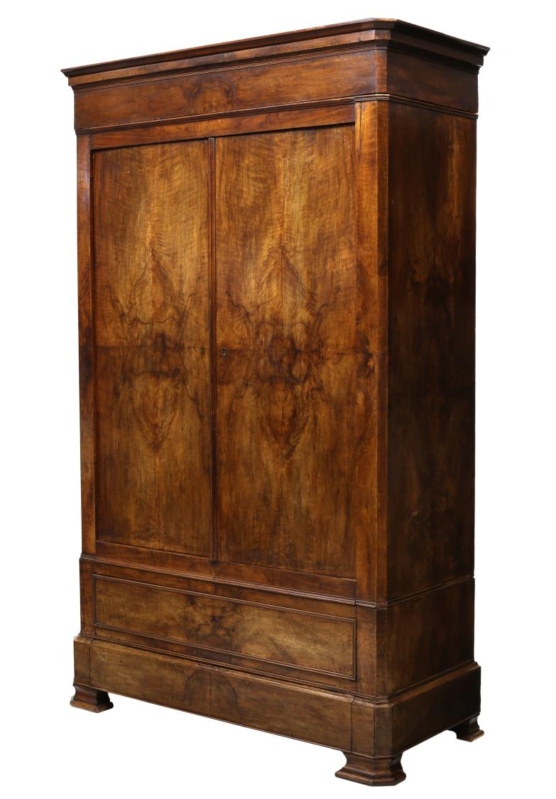 louis xiv style walnut armoire april estates auction day. Black Bedroom Furniture Sets. Home Design Ideas