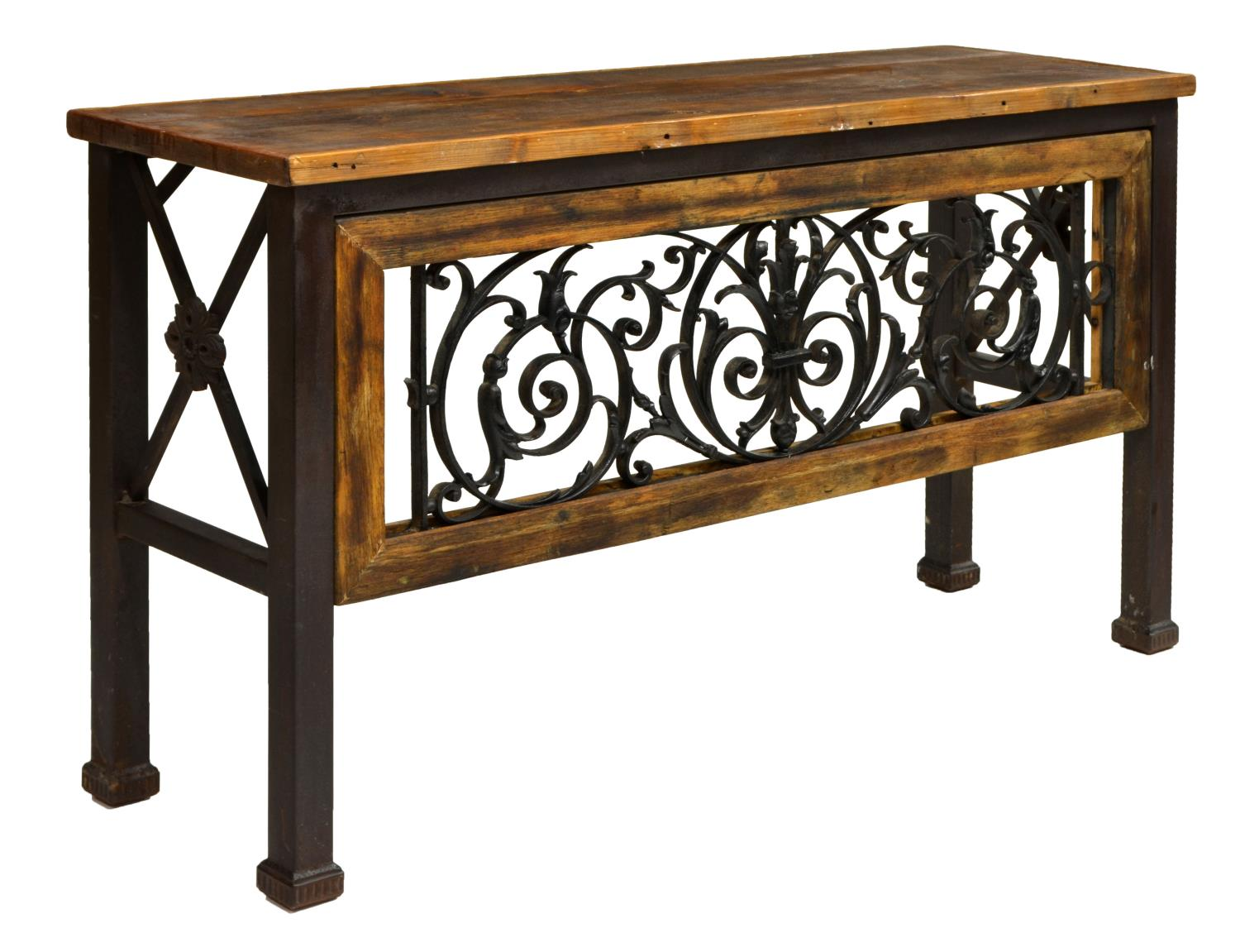 Iron scroll table l 28 images aged iron scroll console for Table th scroll