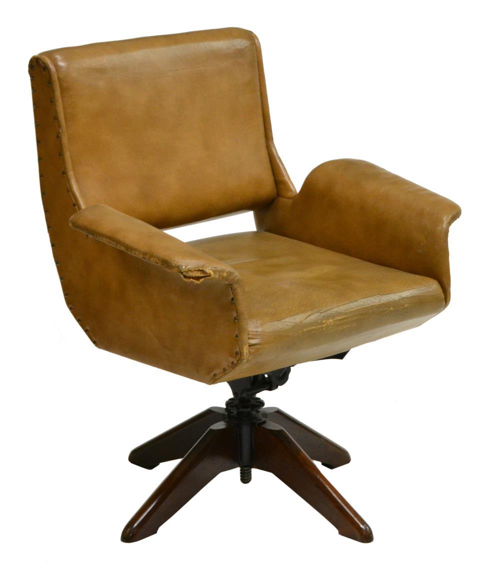 italian mid century modern swivel office chair may estates auction 2016 austin auction gallery. Black Bedroom Furniture Sets. Home Design Ideas