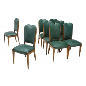 (8) FRENCH ART DECO DINING CHAIRS