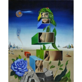 GEORGES SPIRO (FRENCH 1909-1994) SURREALIST O/C