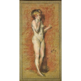 AFTER JAMES A.M. WHISTLER STANDING NUDE LITHOGRAPH