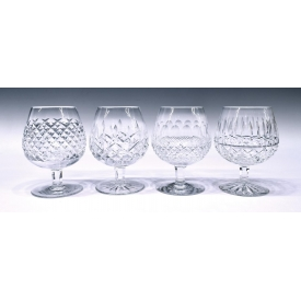(4) WATERFORD CUT CRYSTAL BRANDY GLASSES GROUP