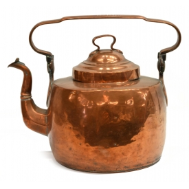 19TH CENTURY AMERICAN COPPER KETTLE