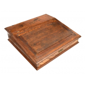 GEORGE CROOME MAHOGANY TABLE TOP DESK, 19TH C