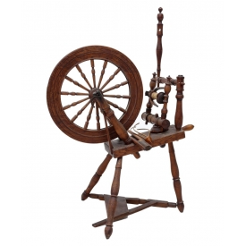 SCARCE S. BARNUM SPINNING WHEEL, EARLY 19TH C.