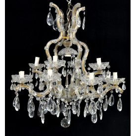 MARIA THERESA 13-LIGHT CHANDELIER, 20TH C.