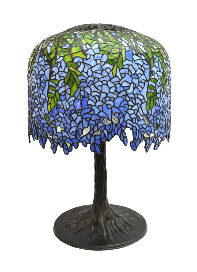 Tiffany style stained glass wisteria table lamp may estates auction 2016 day 2 austin - Lamp may day ...