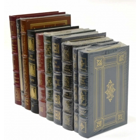 (10) COLLECTION OF LEATHER BOUND BOOKS