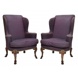 (2) BAKER CHIPPENDALE STYLE CHAIRS, CHARLESTON