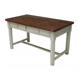 FRENCH PAINTED BASE FARMHOUSE TABLE