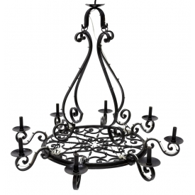 French Country Wrought Iron Chandelier June Estates